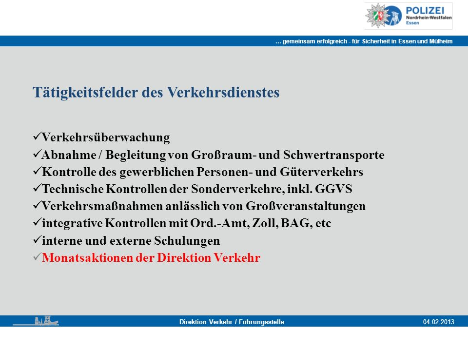 Direktion Verkehr / Führungsstelle