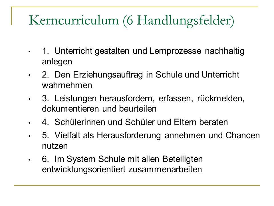 Kerncurriculum (6 Handlungsfelder)