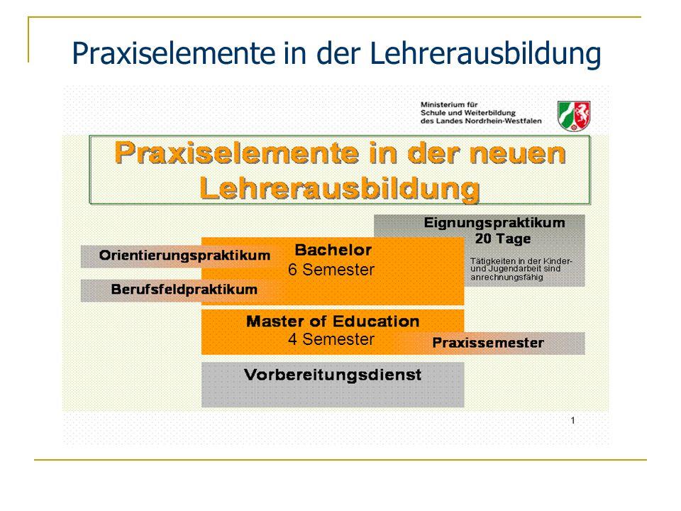Praxiselemente in der Lehrerausbildung