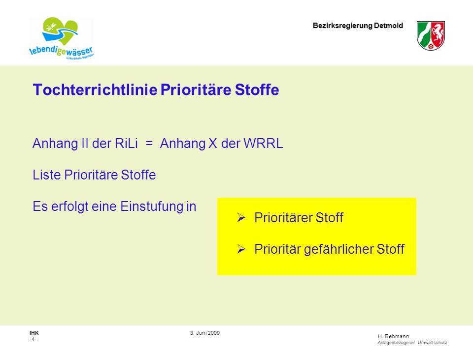 Tochterrichtlinie Prioritäre Stoffe