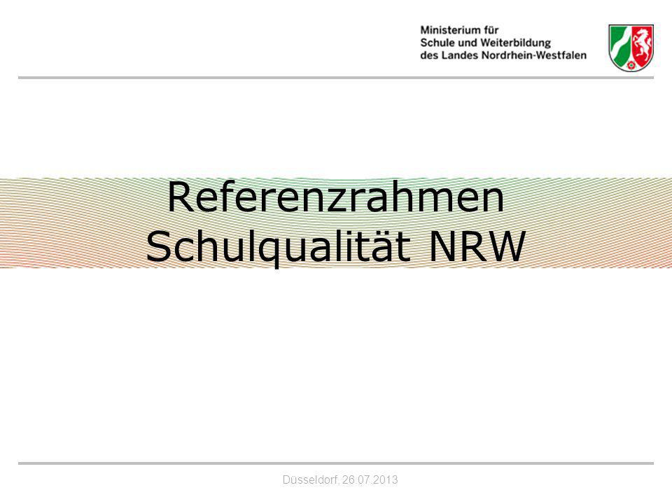 Referenzrahmen Schulqualität NRW