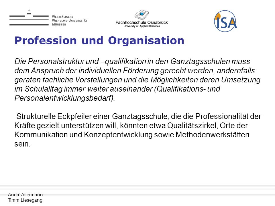 Profession und Organisation