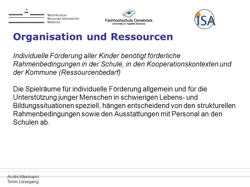 Organisation und Ressourcen
