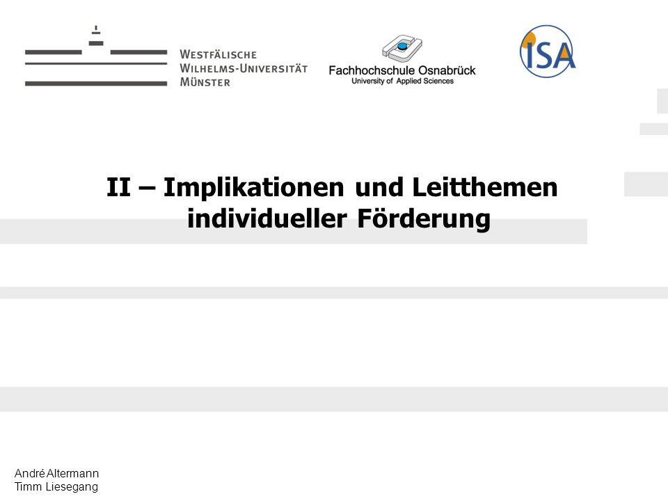 II – Implikationen und Leitthemen individueller Förderung