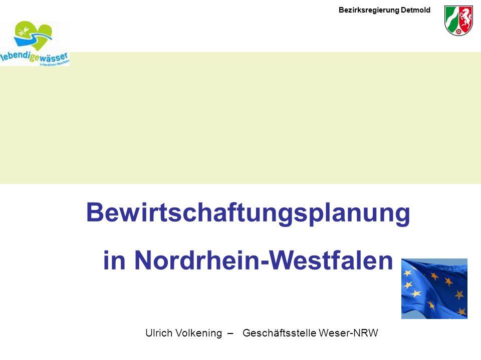 Bewirtschaftungsplanung in Nordrhein-Westfalen