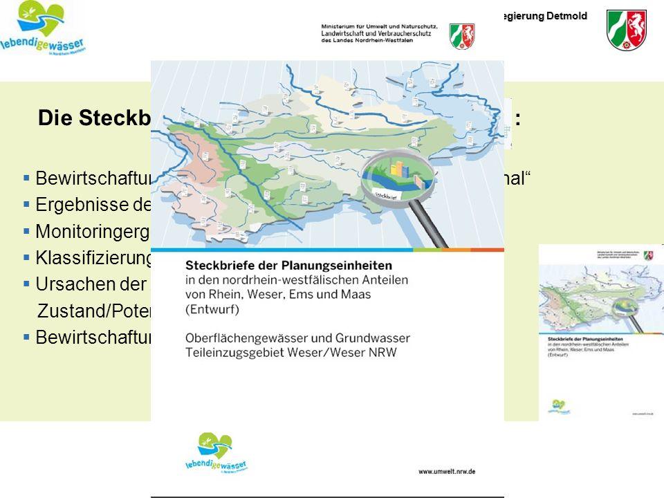 Die Steckbriefe der Planungseinheiten :