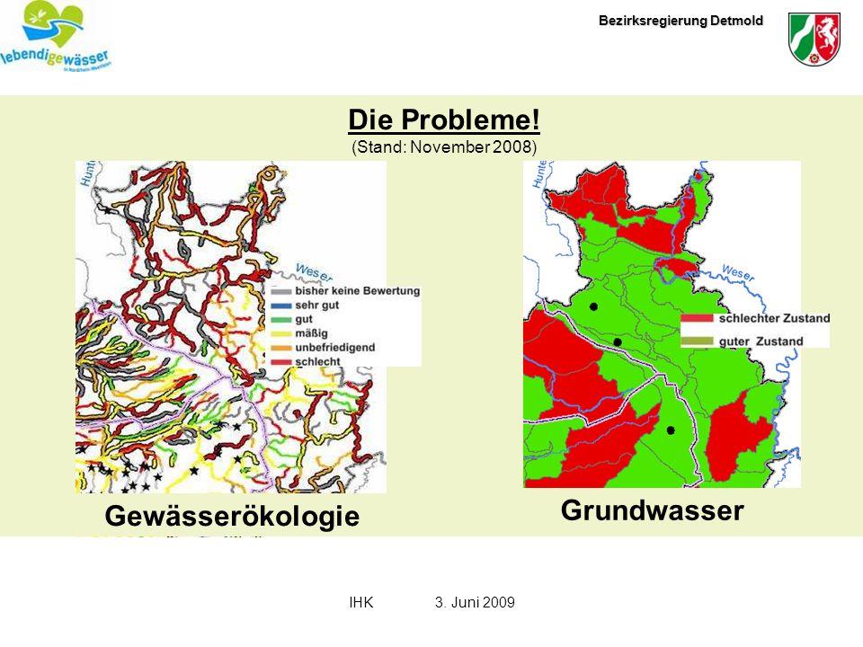 Die Probleme! Grundwasser Gewässerökologie