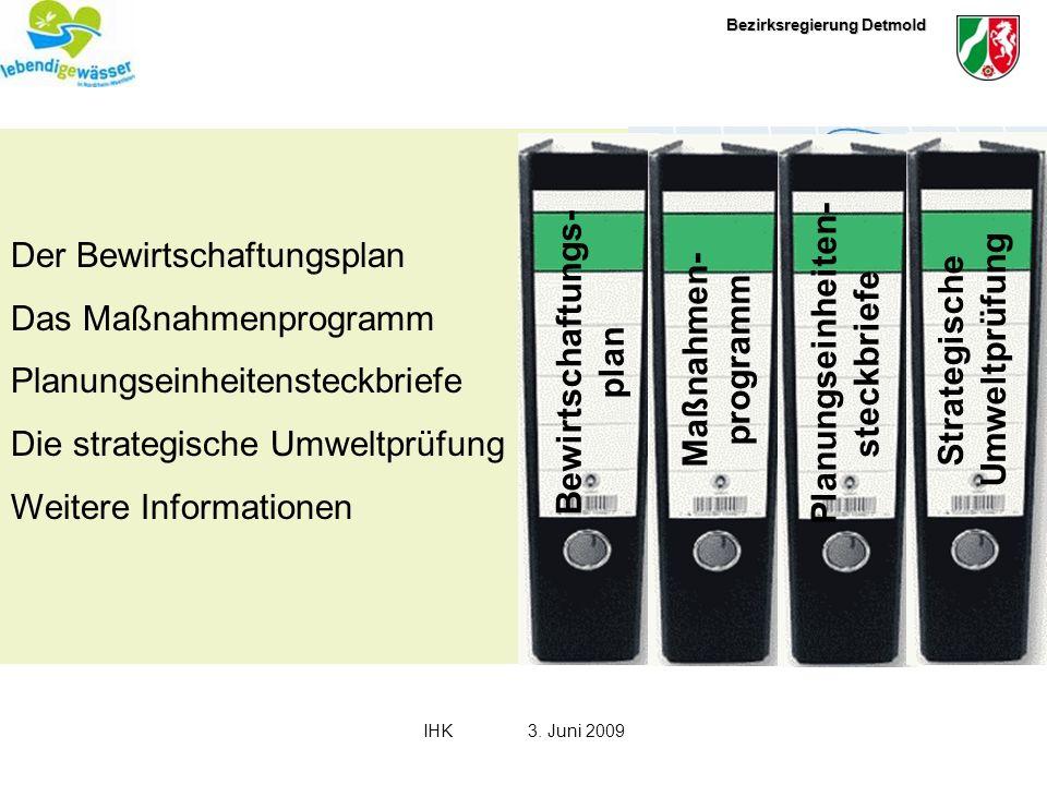 Bewirtschaftungs-plan Maßnahmen-programm Planungseinheiten-steckbriefe