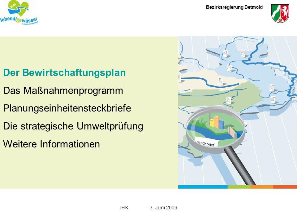 Der Bewirtschaftungsplan Das Maßnahmenprogramm