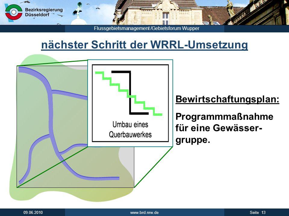 nächster Schritt der WRRL-Umsetzung