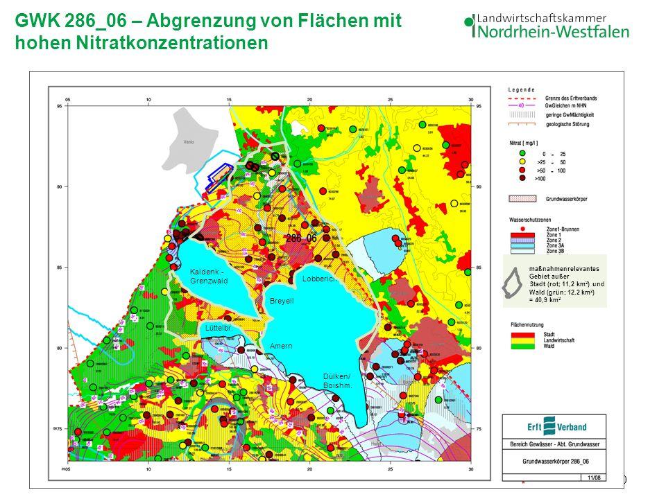 GWK 286_06 – Abgrenzung von Flächen mit hohen Nitratkonzentrationen