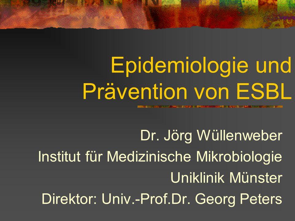 Epidemiologie und Prävention von ESBL