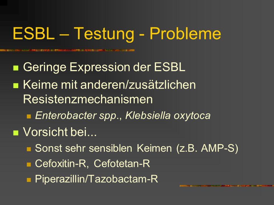 ESBL – Testung - Probleme