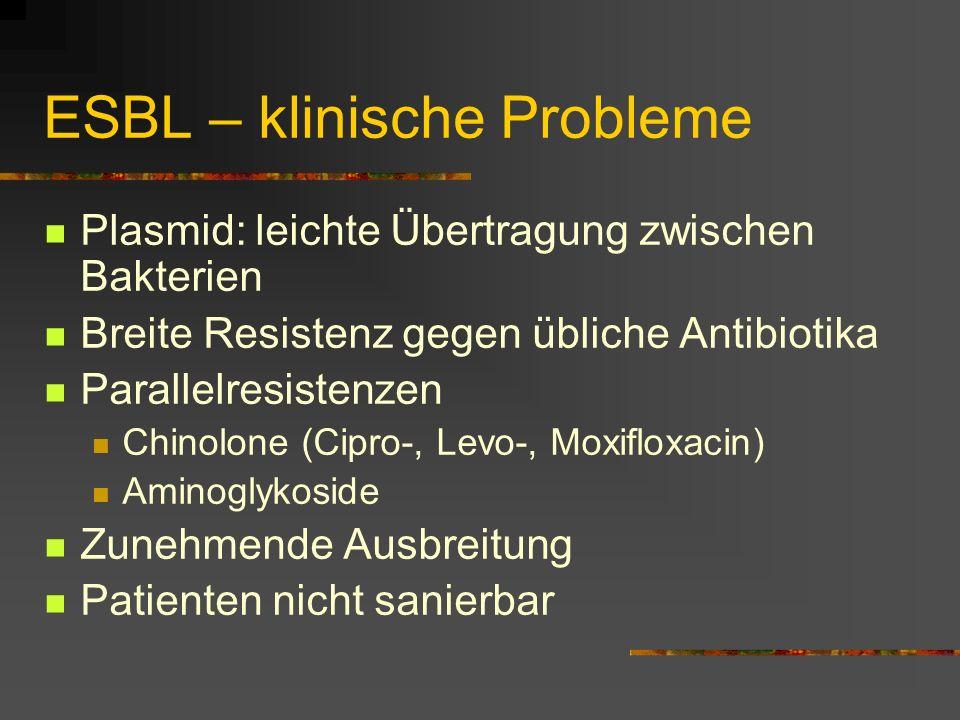 ESBL – klinische Probleme
