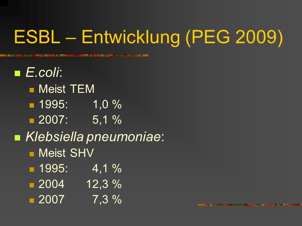 ESBL – Entwicklung (PEG 2009)