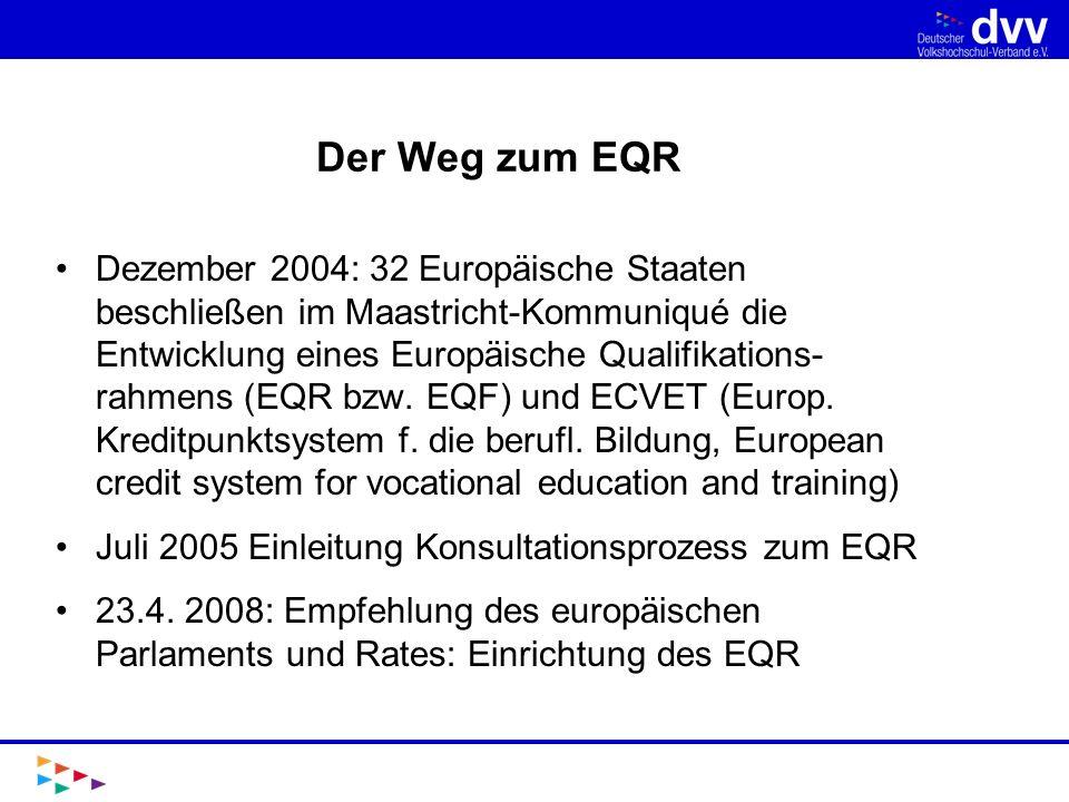 Der Weg zum EQR