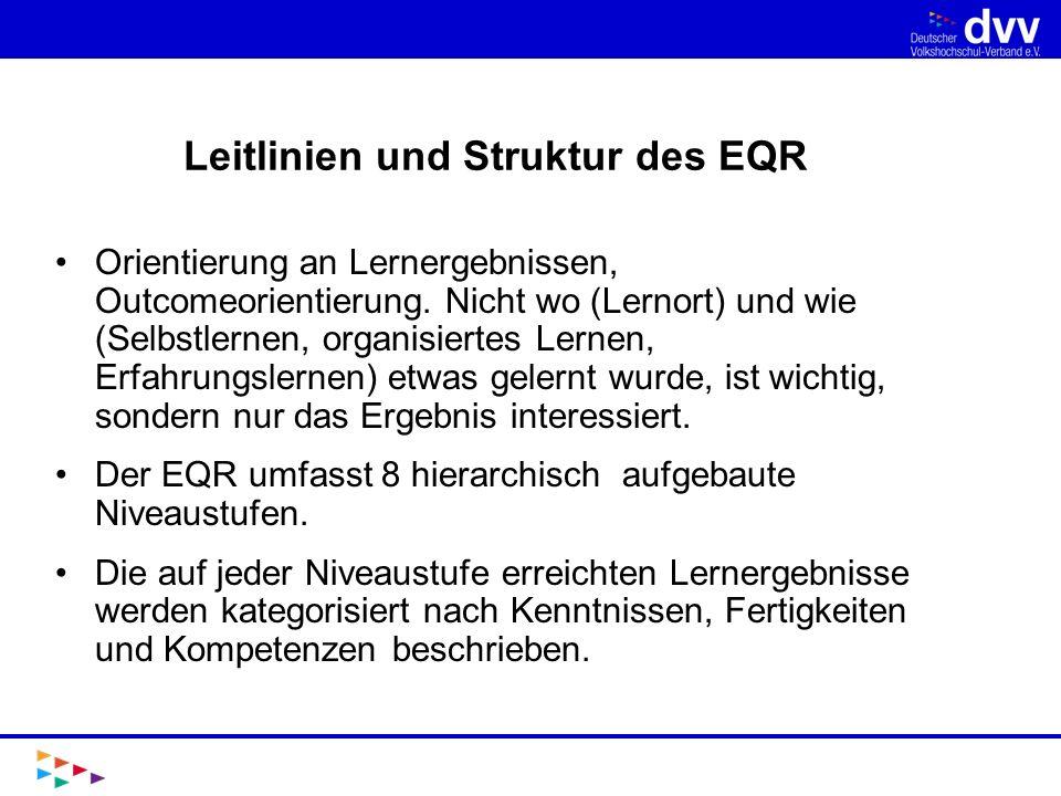 Leitlinien und Struktur des EQR