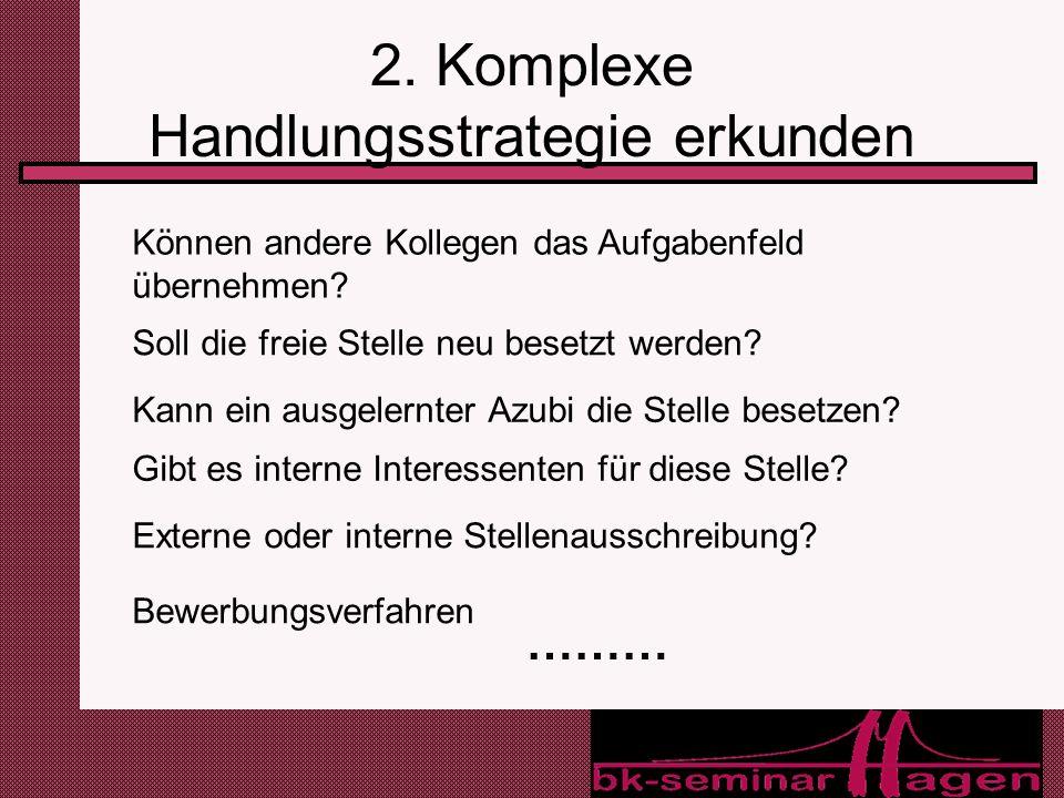 2. Komplexe Handlungsstrategie erkunden