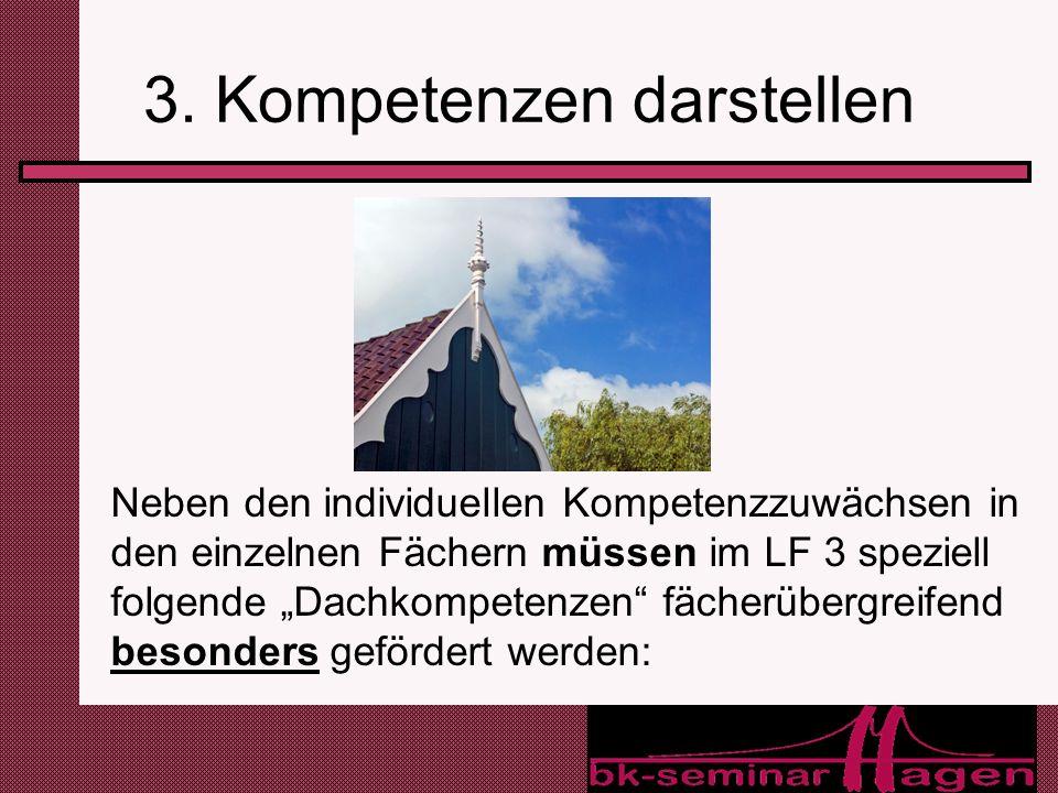 3. Kompetenzen darstellen