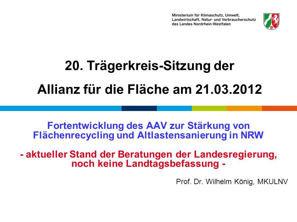 20. Trägerkreis-Sitzung der Allianz für die Fläche am 21.03.2012