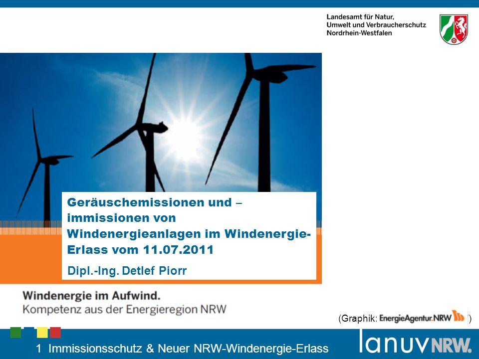 1 Immissionsschutz & Neuer NRW-Windenergie-Erlass