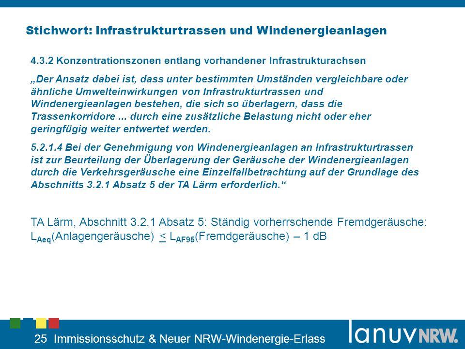 Stichwort: Infrastrukturtrassen und Windenergieanlagen