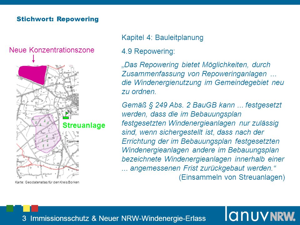 Kapitel 4: Bauleitplanung 4.9 Repowering: