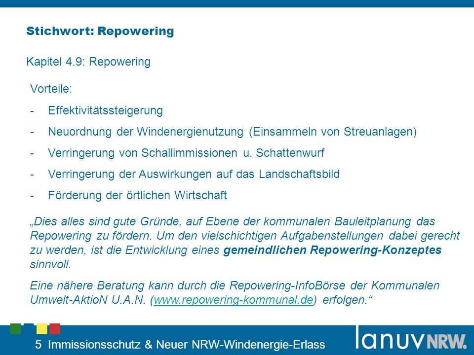 Stichwort: Repowering