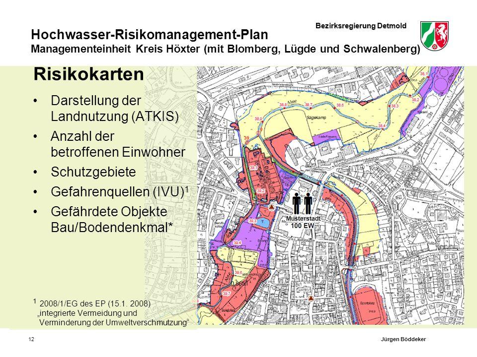Risikokarten Darstellung der Landnutzung (ATKIS)