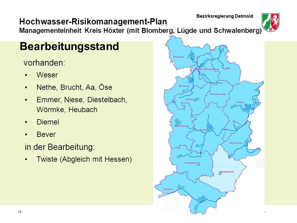 Bearbeitungsstand vorhanden: in der Bearbeitung: Weser