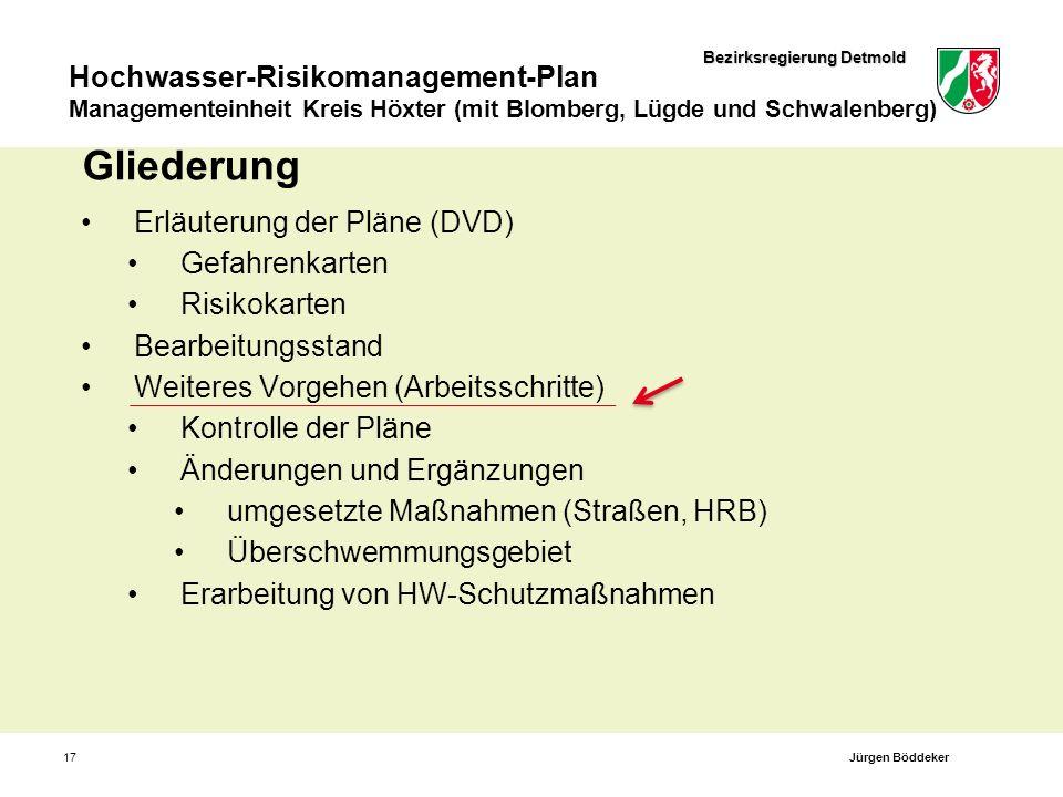Gliederung Erläuterung der Pläne (DVD) Gefahrenkarten Risikokarten