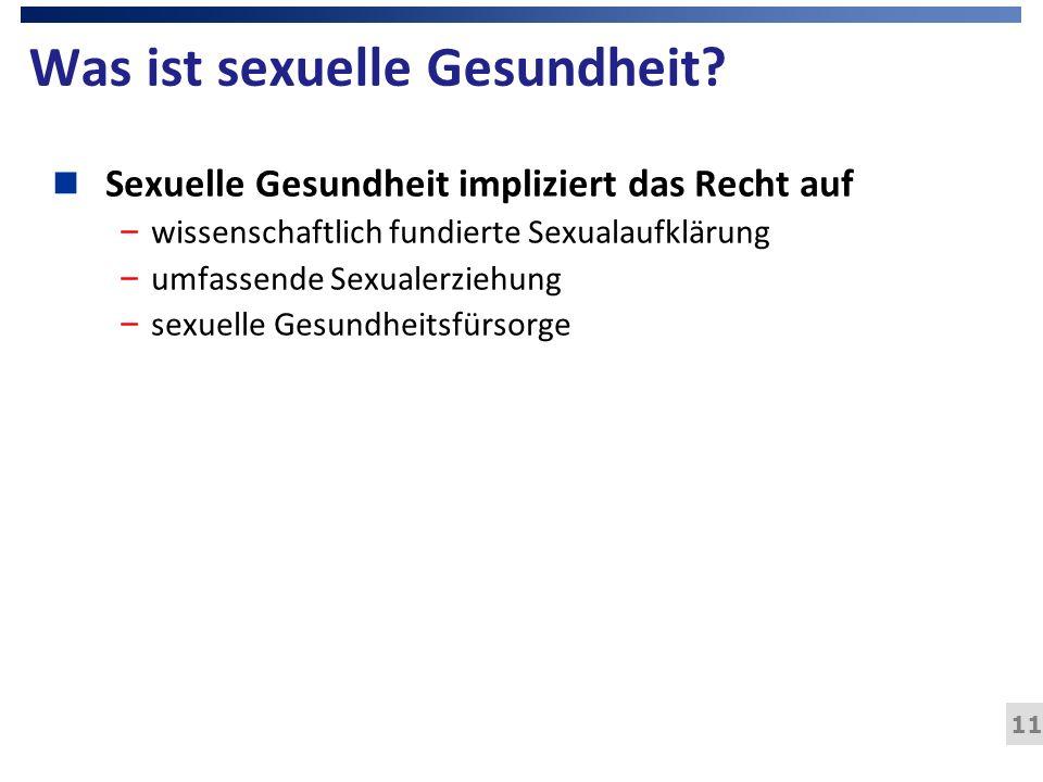 Was ist sexuelle Gesundheit