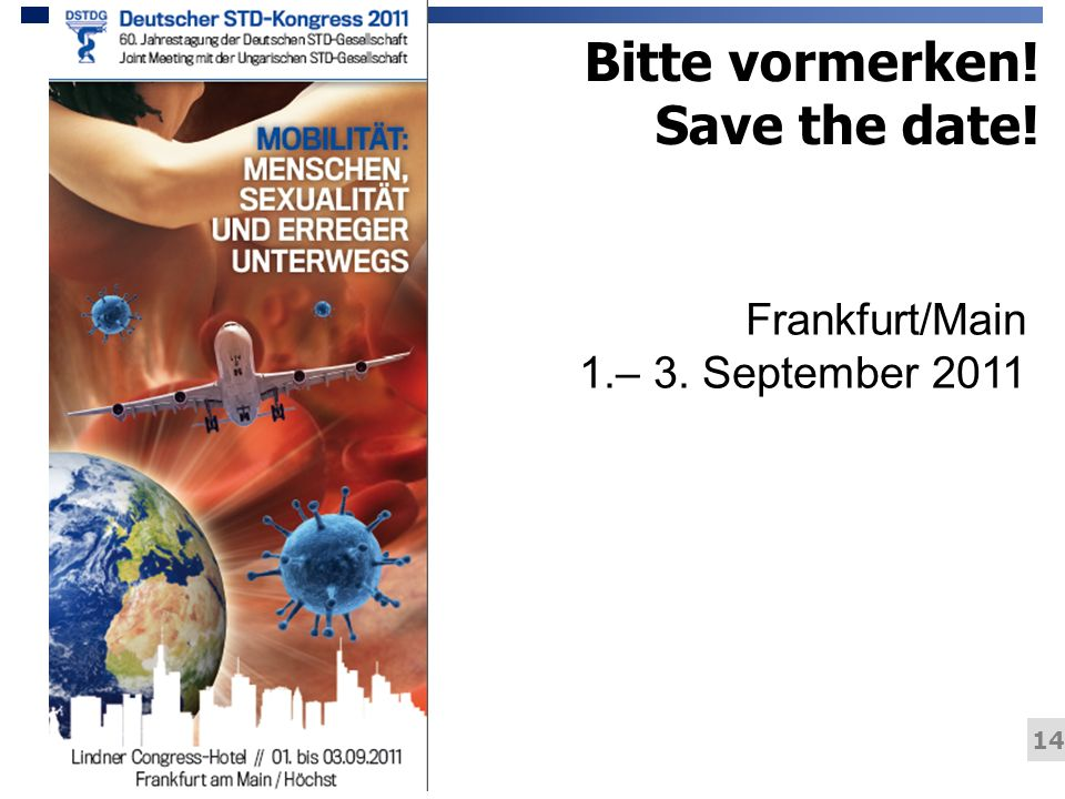 Bitte vormerken! Save the date!