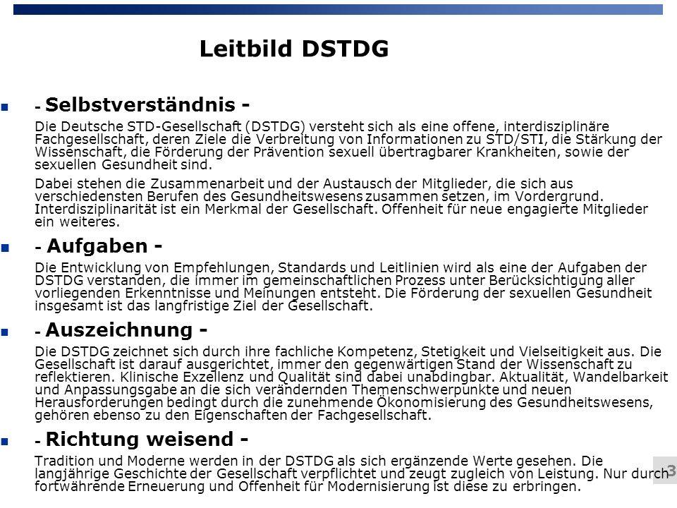 Leitbild DSTDG - Aufgaben - - Selbstverständnis -