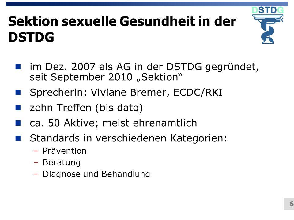 Sektion sexuelle Gesundheit in der DSTDG