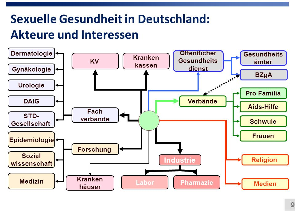 Sexuelle Gesundheit in Deutschland: Akteure und Interessen