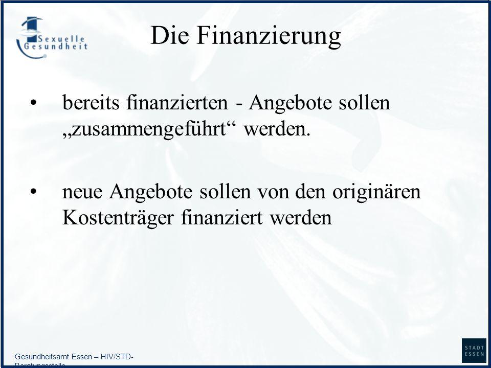 """Die Finanzierungbereits finanzierten - Angebote sollen """"zusammengeführt werden."""