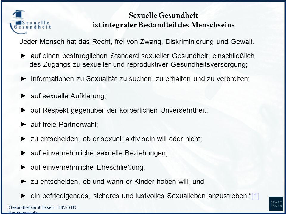 Sexuelle Gesundheit ist integraler Bestandteil des Menschseins