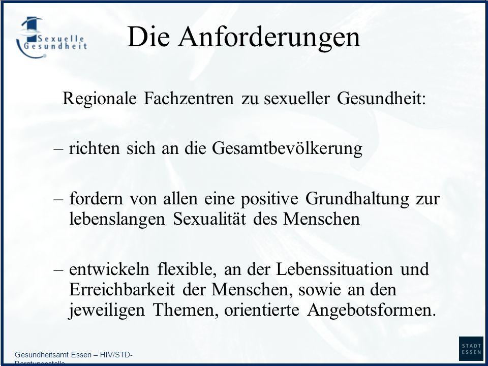 Regionale Fachzentren zu sexueller Gesundheit:
