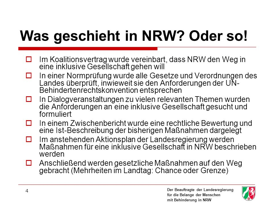 Was geschieht in NRW Oder so!
