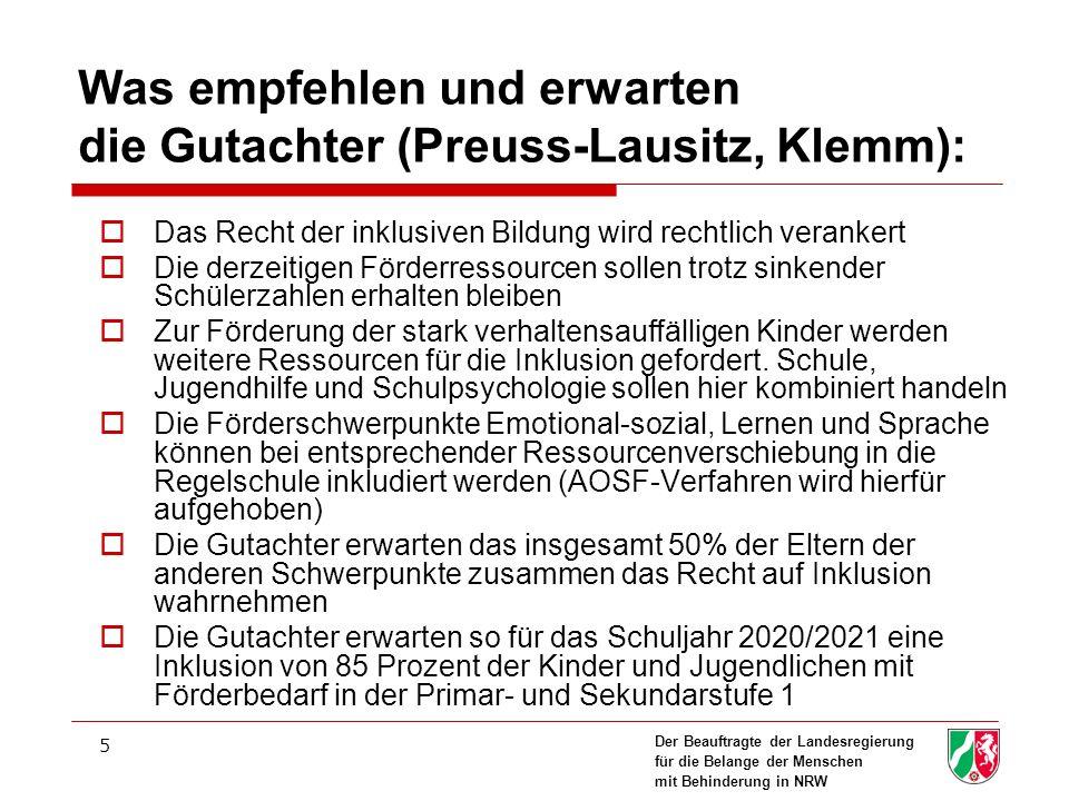 Was empfehlen und erwarten die Gutachter (Preuss-Lausitz, Klemm):