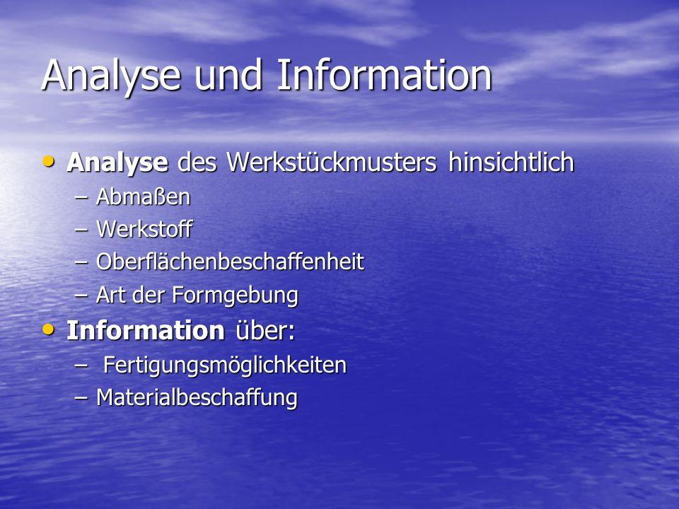 Analyse und Information