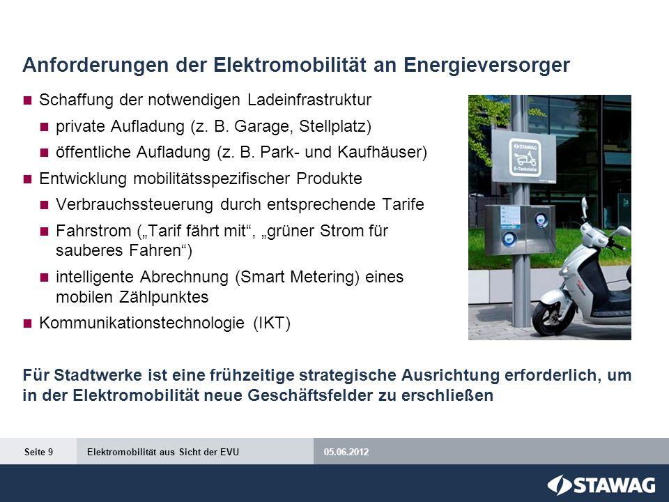 Anforderungen der Elektromobilität an Energieversorger