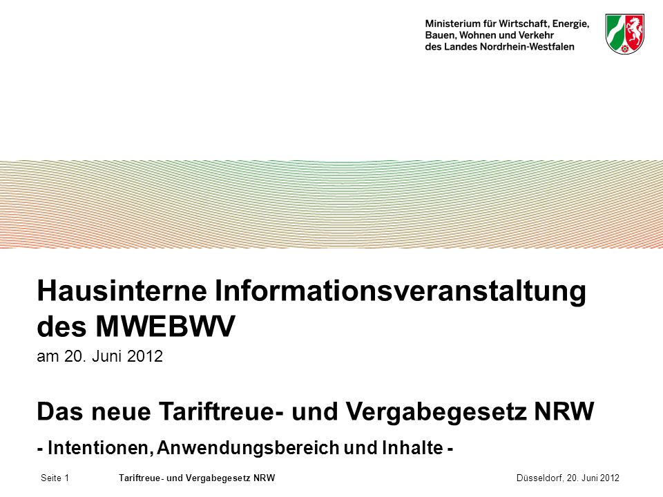 Hausinterne Informationsveranstaltung des MWEBWV