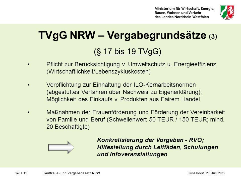 TVgG NRW – Vergabegrundsätze (3)