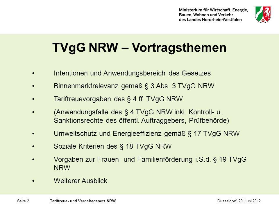 TVgG NRW – Vortragsthemen