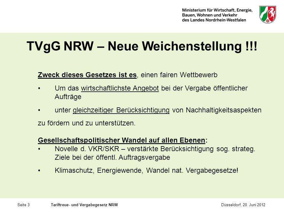 TVgG NRW – Neue Weichenstellung !!!