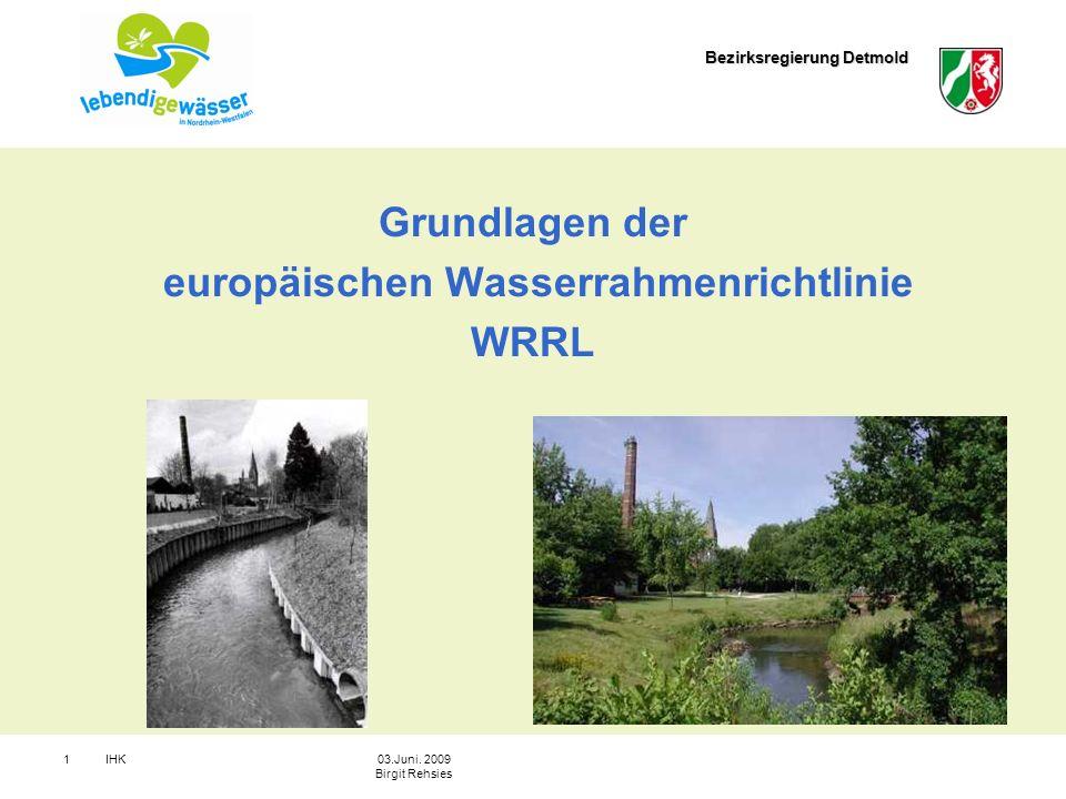 europäischen Wasserrahmenrichtlinie