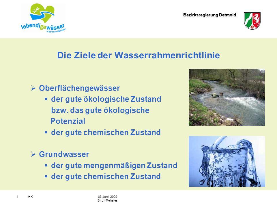 Die Ziele der Wasserrahmenrichtlinie