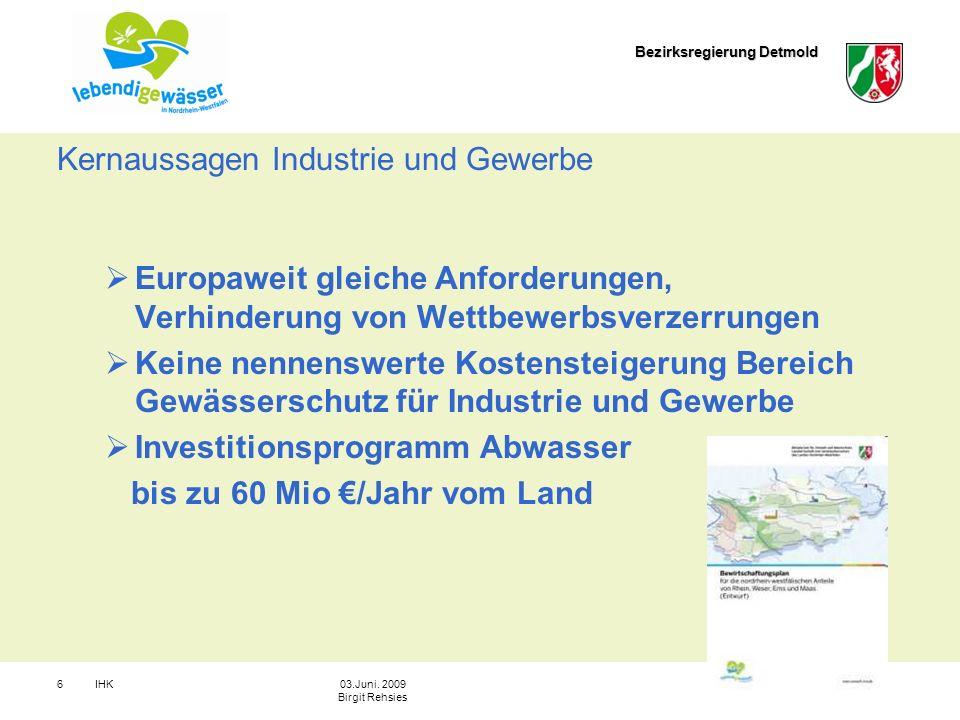 Kernaussagen Industrie und Gewerbe